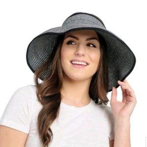Harve Benard Bow Detail Roll Up Visor Hat